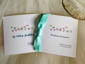 Aqua Green wedding invitations