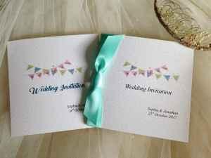 Aqua Green wedding invitations