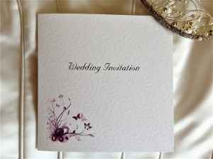 Purple and Lilac Butterfly Wedding Invitations