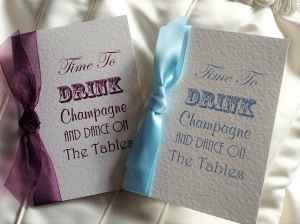 Drink Champagne Wedding Invites