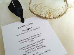 Black Chantilly Wedding Invitations