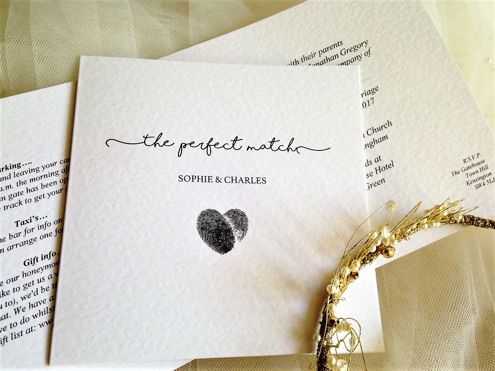 Perfect Match Wedding Invitations - Daisy Chain Invites