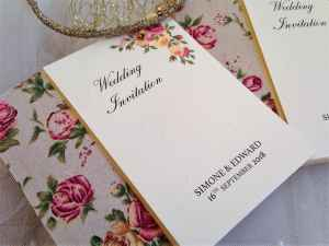 Blush Vintage Rose Wedding Invitations