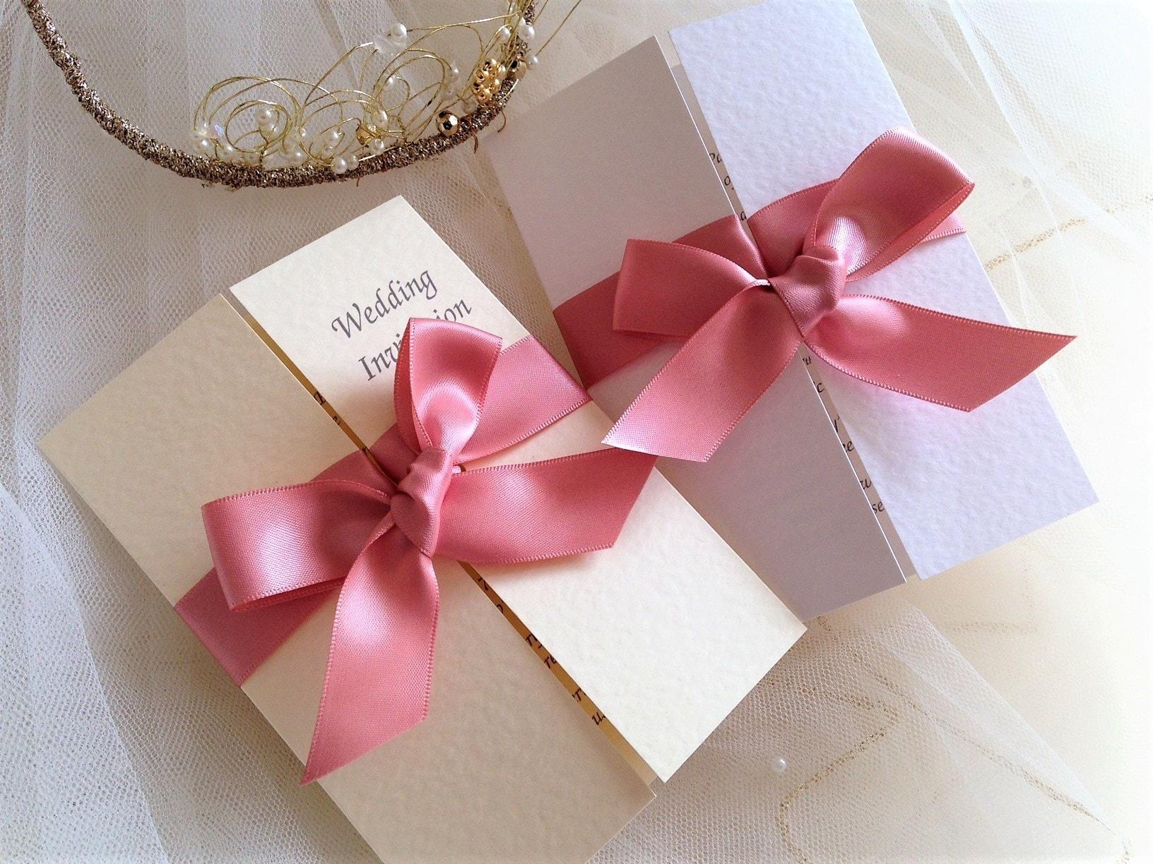 Gatefold Wedding Invitations - Daisy Chain Invites