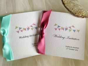 Summer Bunting Wedding Invitations
