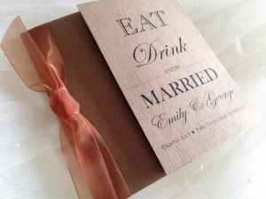 Copper Wedding Invitations