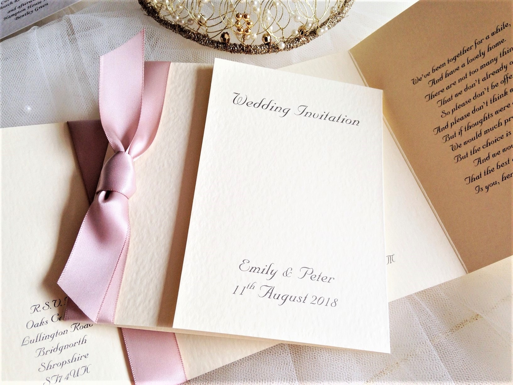 Champagne Wedding Invitations | Wedding Invites