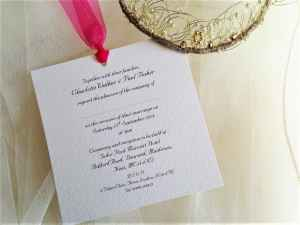 Chantilly Fuchsia Wedding Invitations