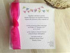 Summer Bunting Wedding Invitations