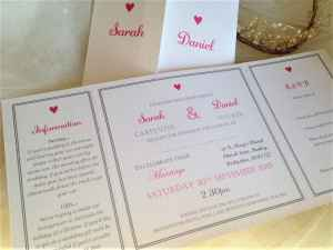 York Wedding Invitations - Fuchsia
