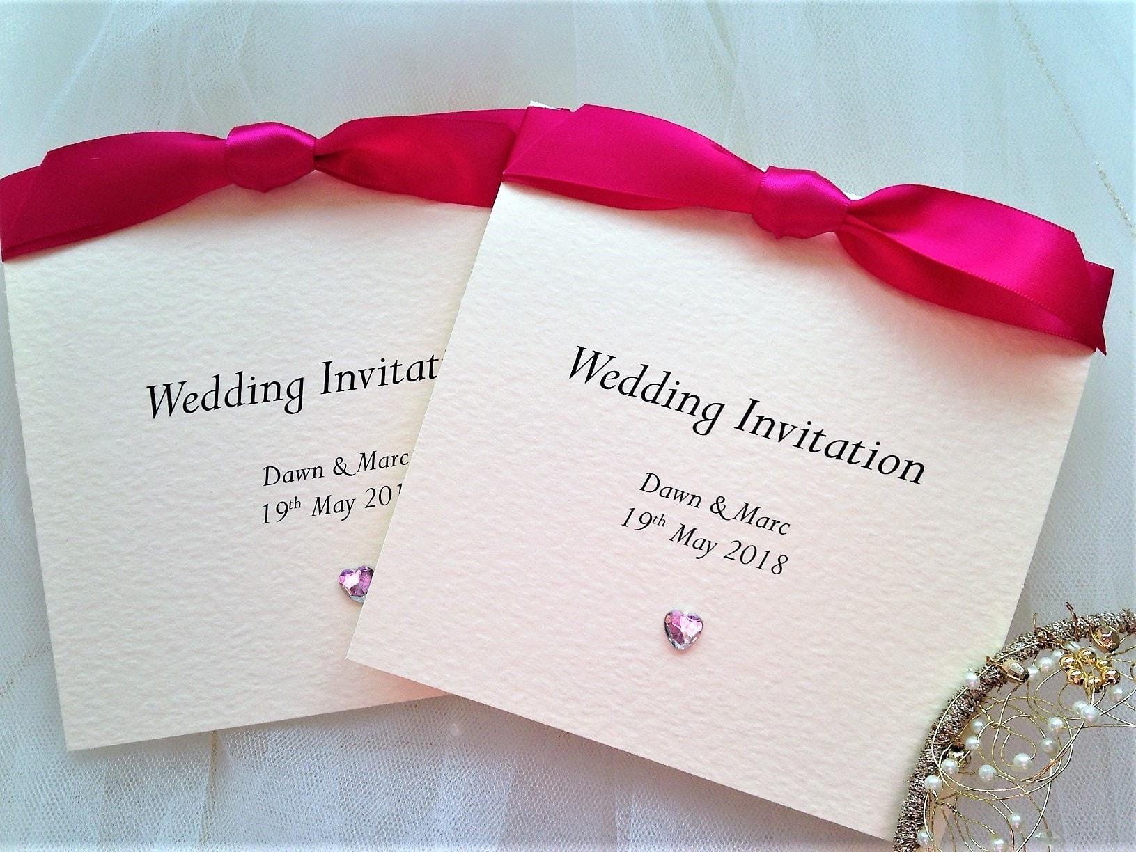 Shop wedding invites by colour to match your wedding colour scheme.