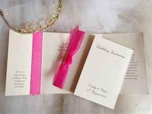 Square Gatefold Wedding Invitations