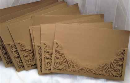 Gold Laser Cut Pockets – DIY Wedding Invitations