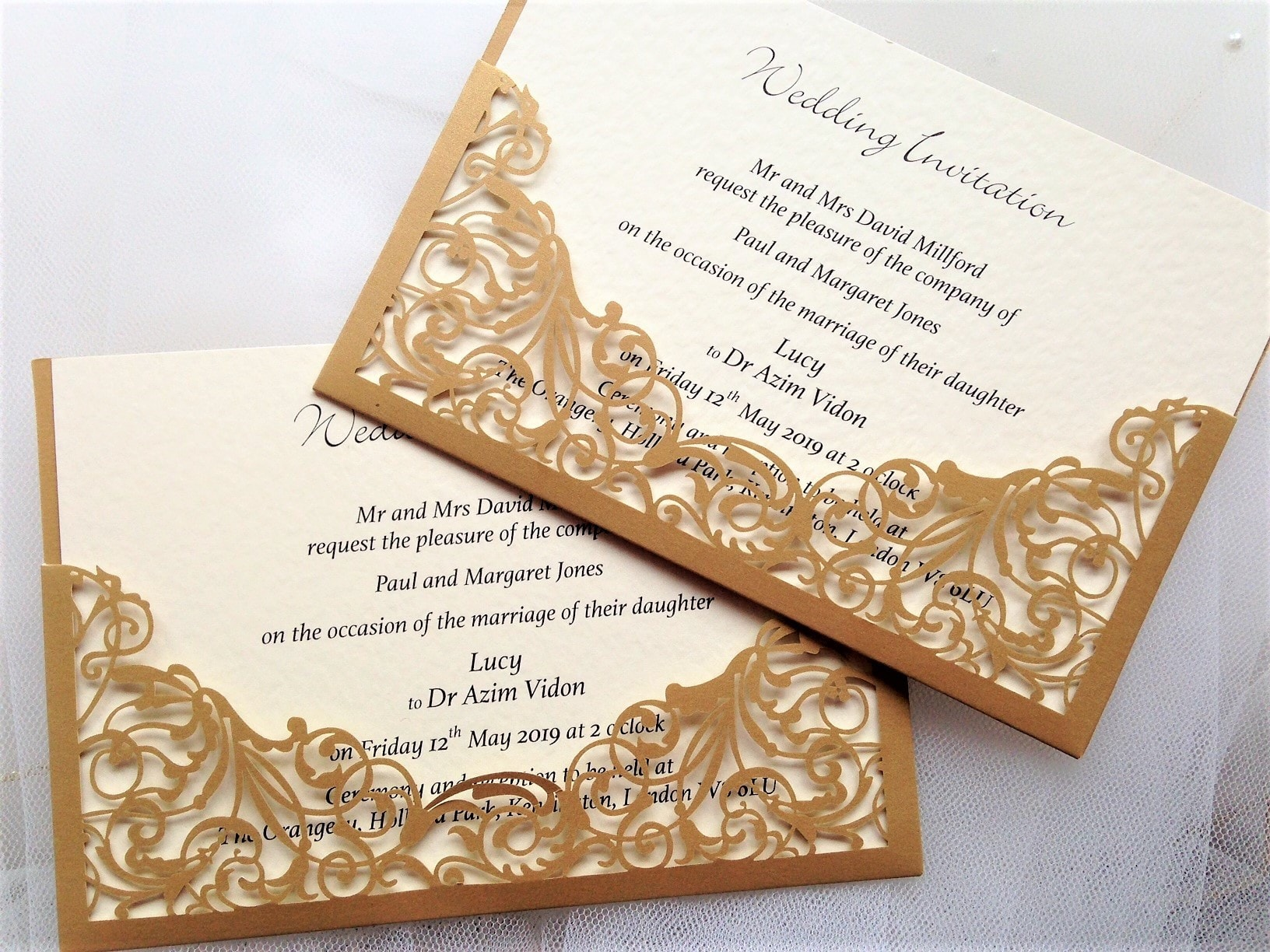 Gold Wedding Invitations | Gold Wedding Invites