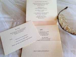 Ivory Pocketfold Wedding Invitations