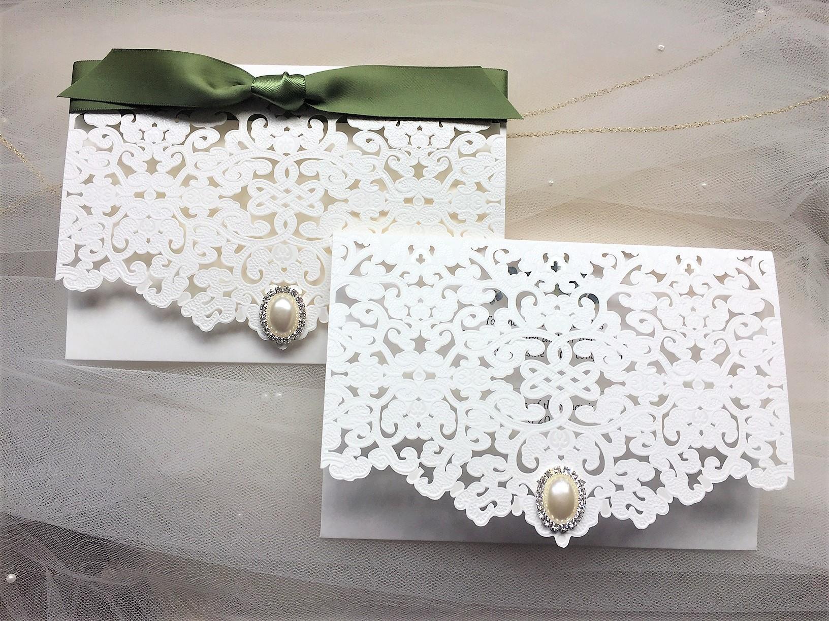 Laser Cut Wallet Wedding Invites