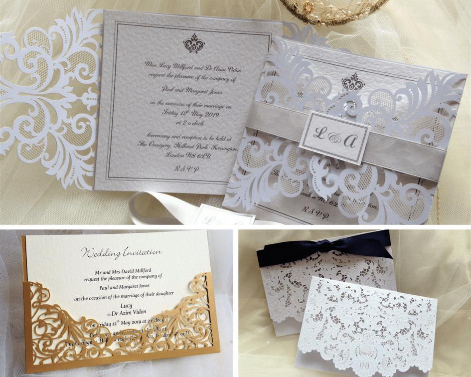 Cheap Laser Cut Wedding Invitations Uk: Personalised Wedding Invitations From 60p