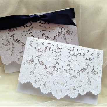 Laser Cut Wallet Wedding Invites