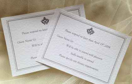 Baroque RSVP Cards and Envelopes
