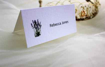 Lavender Place Cards