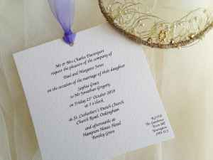 Lilac Chantilly Wedding Invitations