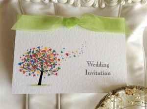 Moss Wedding Invitations - Love Tree