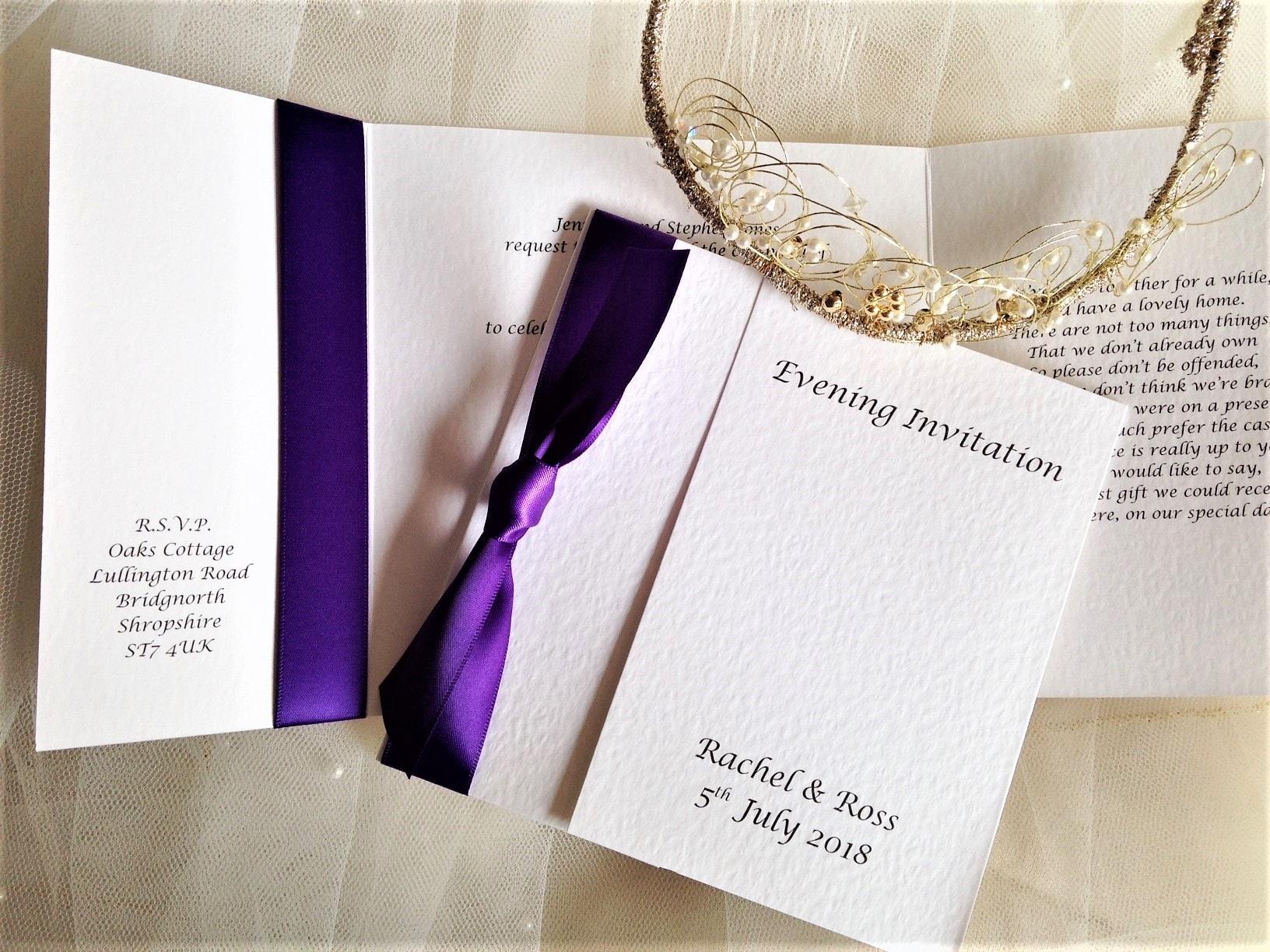 Purple Wedding Invitations | Purple Wedding Colours