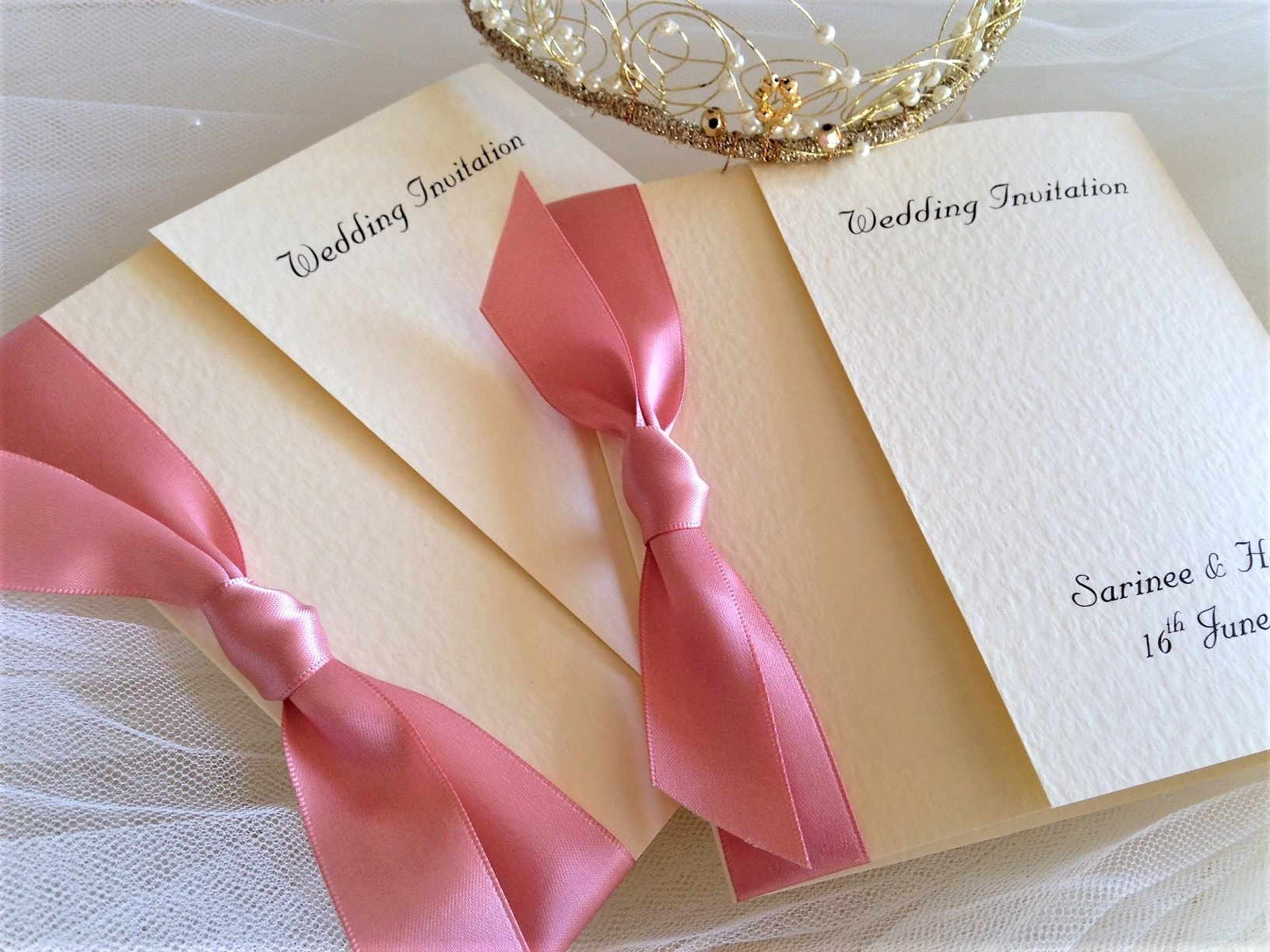 Shop wedding invites by colour to match your wedding colour scheme.
