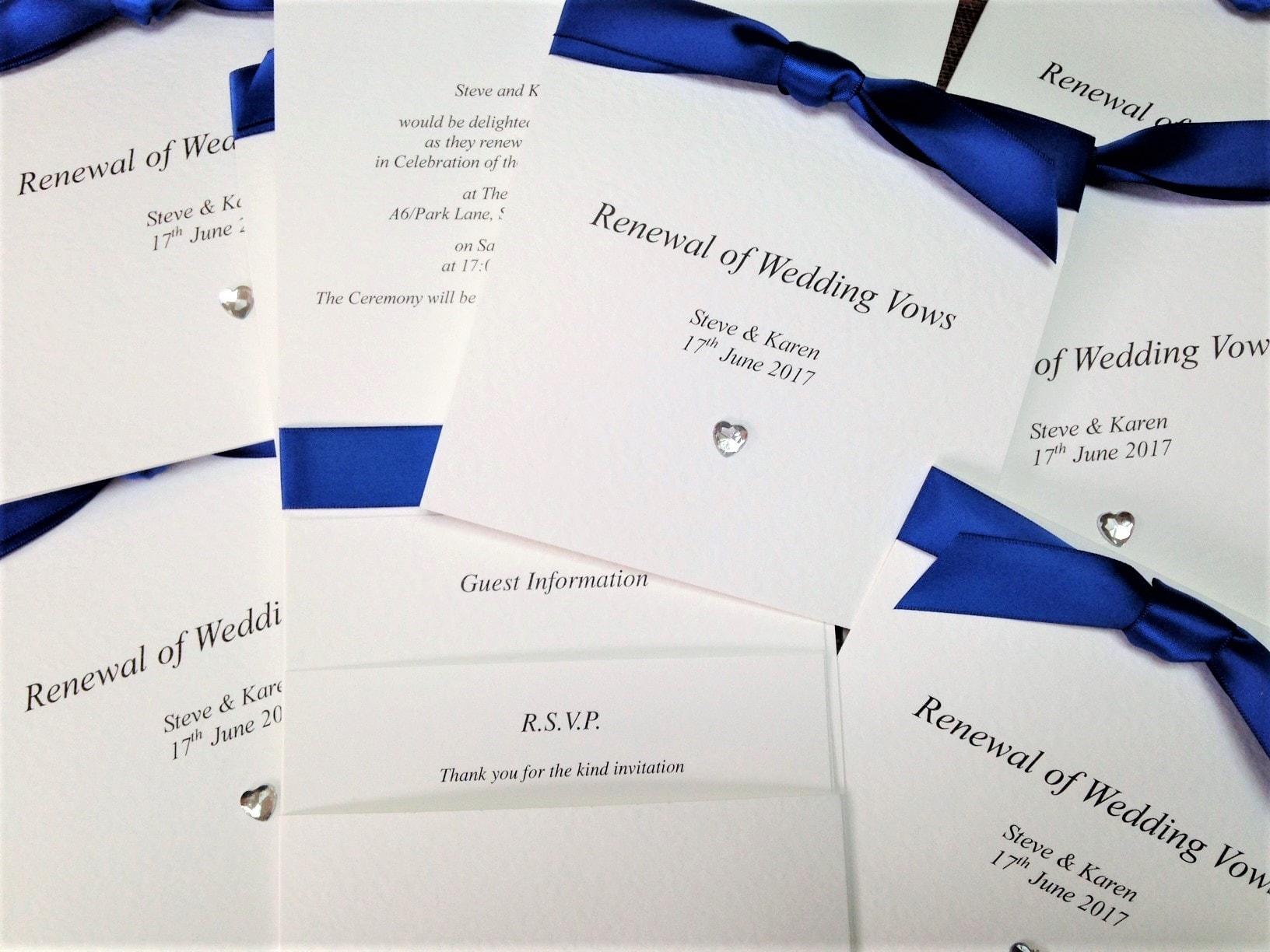 Royal Blue Wedding Invitations | Wedding Invites