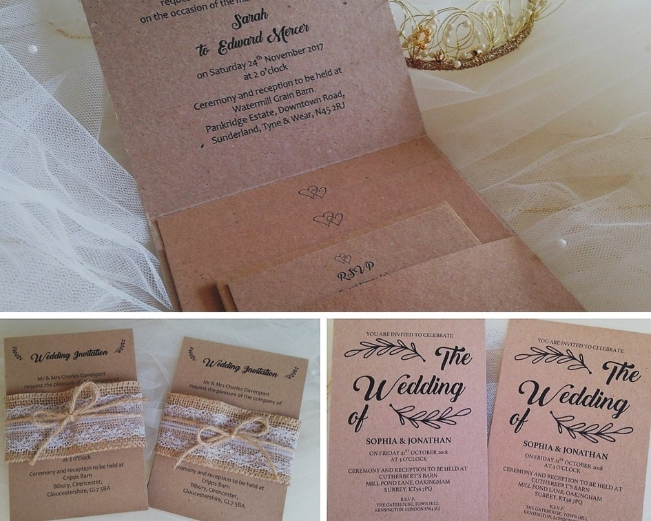 Vintage And Rustic Wedding Invitations Wedding Invites