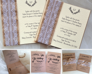 Vintage and Rustic Wedding Invitations