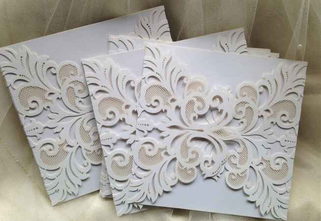 DIY Laser Cut Wedding Invitations