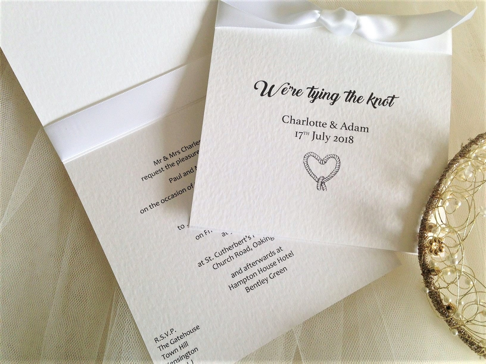 White Wedding Invitations | White Weddings | Invites