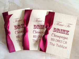 Drink Champagne Wine Wedding Invitations