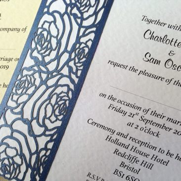 Laser Cut Rose Wedding Invitations SORRY OUT OF STOCK