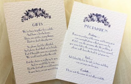Blue Botanical Information Cards