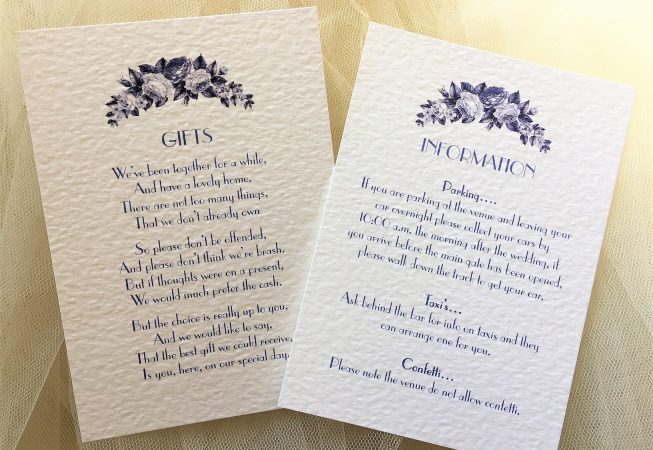 Blue Botanical Information Cards