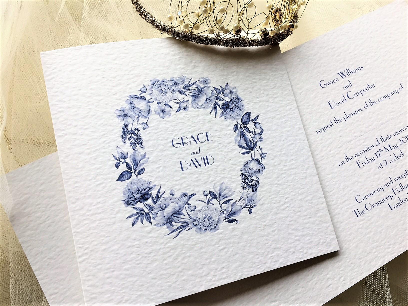 When Do You Order Wedding Invitations: Royal Blue Wedding Invitations