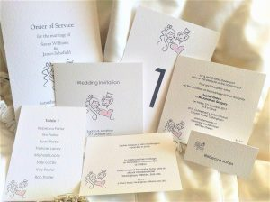 Bride and Groom Wedding Stationery Range
