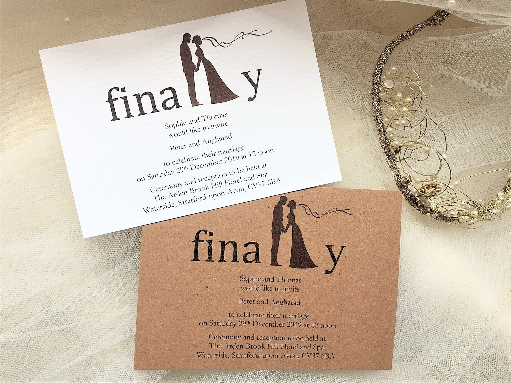 Finally Postcard Wedding Invitations