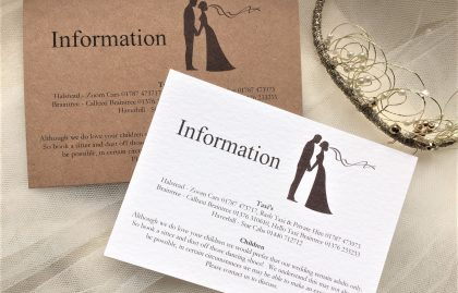 Finally Guest Information Cards