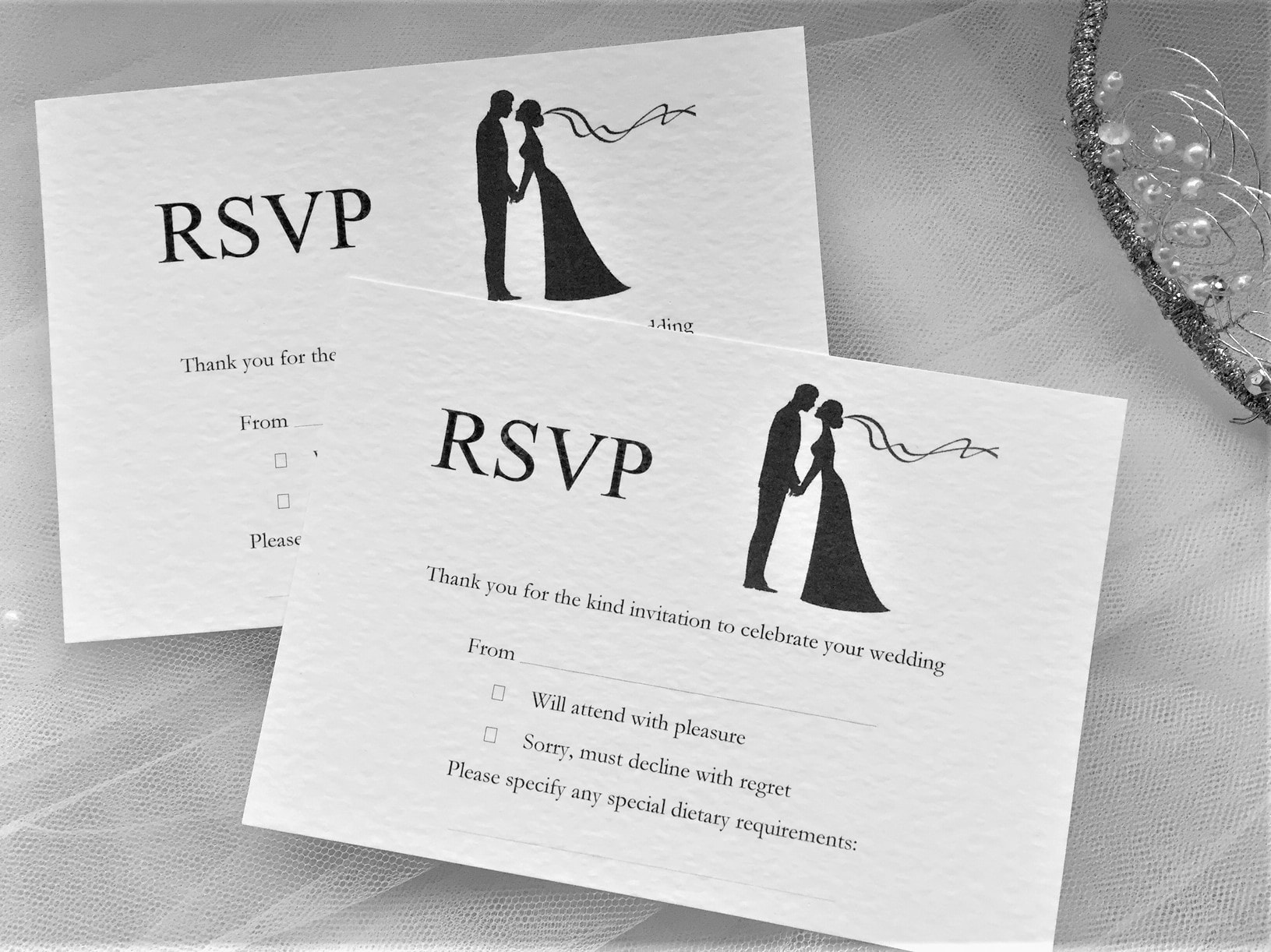 beautiful wedding invitations with rsvp cards included or card size