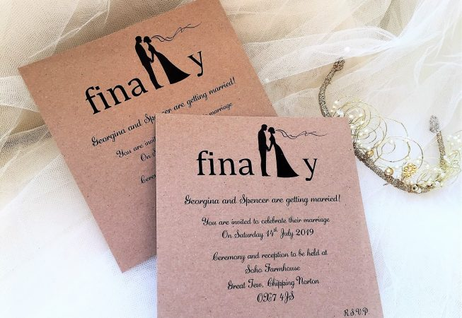 Finally Square Wedding Invitations
