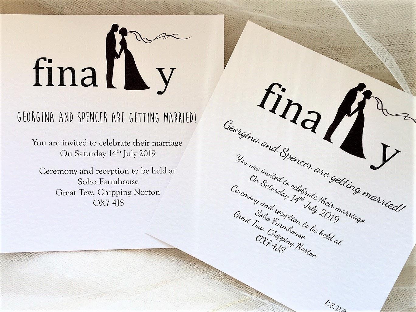 Modern Wedding Invites Uk: Finally Wedding Invitations £1.10 Each