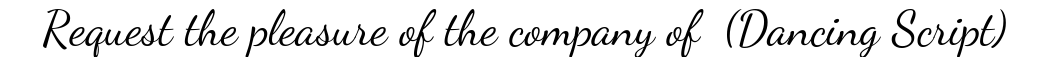 Dancing Script Font