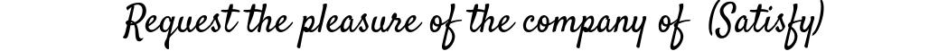 Satisfy Font