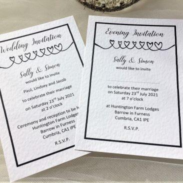Linked Hearts Postcard Wedding Invitations