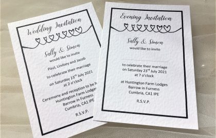 Linked Hearts Postcard Wedding Invitations
