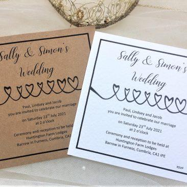 Linked Hearts Wedding Invitations