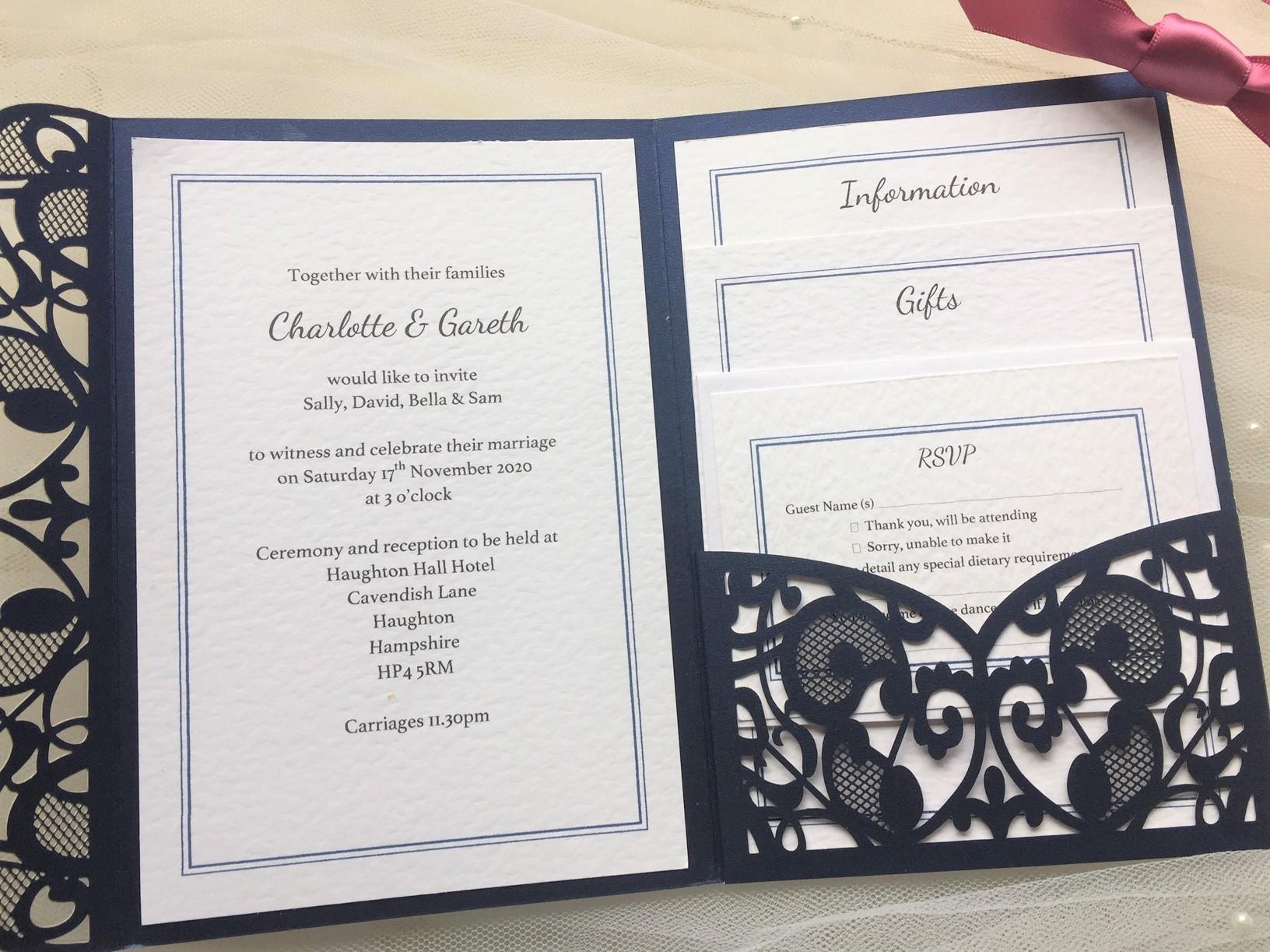 Affordable Laser Cut Wedding Invitations: Affordable Personalised Wedding